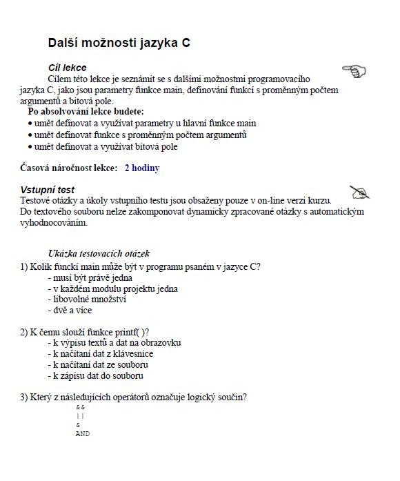 Programování v C / Skripta / Zadani-seminarky cz